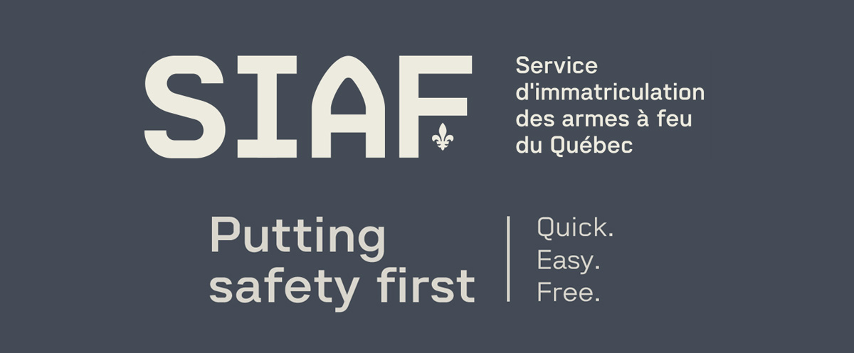 Individuals - SIAF : Québec Firearms Registration Service
